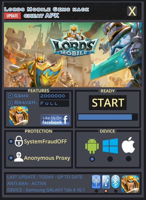 how to get gems lords mobile
