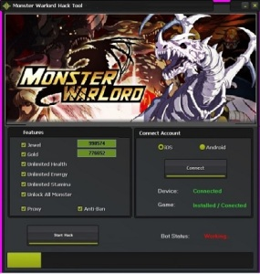 Monster Warlord Hack Cheat Tool